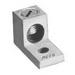 Peco RA-600 Solderless Lug; 600 MCM - 2 AWG Aluminum/Copper, 13/32 Inch Bolt, Aluminum, Electro-Tin Plated