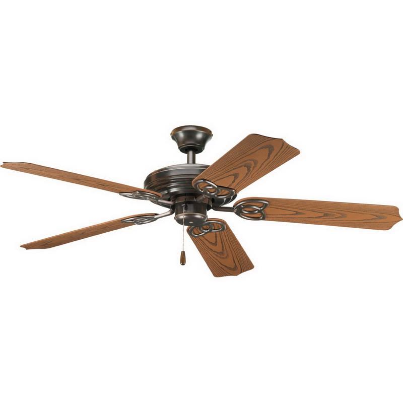 Progress Lighting P2502-20 AirPro Patio Ceiling Fan; 52 Inch Blade, 5061 cfm, Ceiling Mount, Steel
