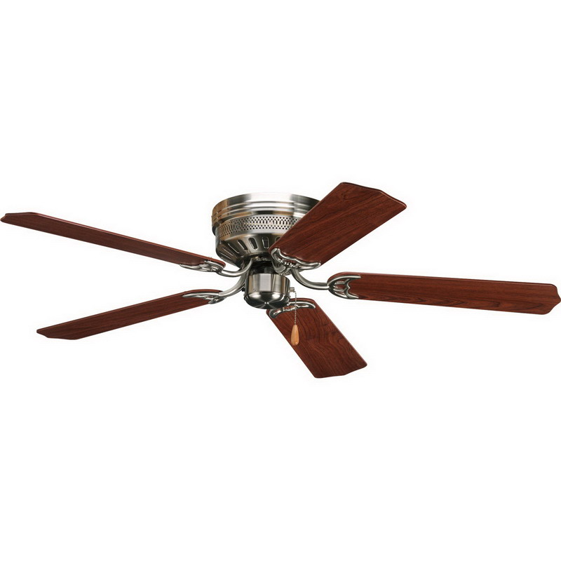 Progress Lighting P2525-09 AirPro Hugger Ceiling Fan With Reversible Blades; 5106 cfm, Ceiling Mount