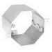 Garvin OCR-350 Concrete Octagon Box; 4 Inch Width x 3.500 Inch Depth x 4 Inch Height, Steel