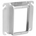 Garvin 52C15 Raised 1-Gang Square Device Ring; 1 Inch Depth, Steel