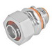 Garvin LTC-75 Straight Liquidtight Connector With Insulated Throat; 3/4 Inch, Malleable Iron