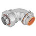 Garvin LTC-7590 90 Degree Liquidtight Connector With Insulated Throat; 3/4 Inch, Malleable Iron