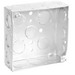 Garvin 52151-S 4 Inch Square Junction Box; 1-1/2 Inch Depth, Steel, 16 Knockouts