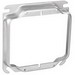 Garvin 52C18-5/8 4 Inch 2-Gang Square Raised Device Ring; 5/8 Inch Depth, Steel