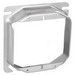 Garvin 52C19 4 Inch 2-Gang Square Raised Device Ring; 1 Inch Depth, Steel