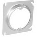 Garvin 52C3 Raised Square to Round Device Plaster Ring; 1/2 Inch Depth, Steel