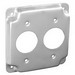 Garvin G1933 Raised Square Cover; 1/2 Inch Depth, Steel
