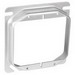 Garvin 52C18 4 Inch 2-Gang Square Raised Device Ring; 3/4 Inch Depth, Steel