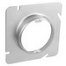 Garvin 72C3-3/4 4-11/16 Inch Square To Round Raised Device Ring; 3/4 Inch Depth, Steel, Box Mount