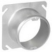 Garvin 52C3-2 Raised Square to Round Device Plaster Ring; 2 Inch Depth, Steel