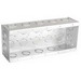 Garvin TB-525 5-Gang Masonry Box; 9.250 Inch Width x 2.500 Inch Depth x 3.750 Inch Height, Steel, 24-Knockouts