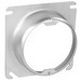 Garvin 52C3-1-1/4 Raised Square to Round Device Plaster Ring; 1-1/4 Inch Depth, Steel