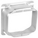 Garvin 52C21 4 Inch 2-Gang Square Raised Device Ring; 1-1/4 Inch Depth, Steel