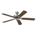 Sea Gull 15040-962 Quality Max Collection® Ceiling Fan; 52 Inch, Wood, Brushed Nickel