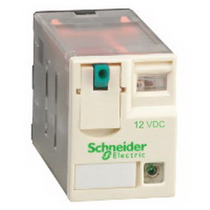 Schneider Electric / Square D RXM4AB2JD Zelio® Miniature Plug-In Relay; 3/6/8 Amp, 12 Volt DCPlug-In Mount