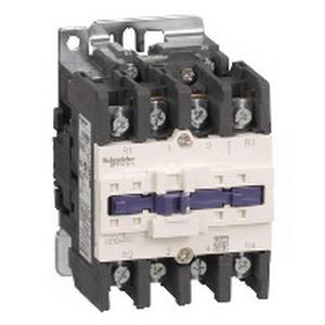 Schneider Electric / Square D LC1D40008G7 TeSys D-Line Full Voltage Contactor 4 Pole  60 Amp  690 Volt AC  300 Volt DC  Plate/Rail Mount