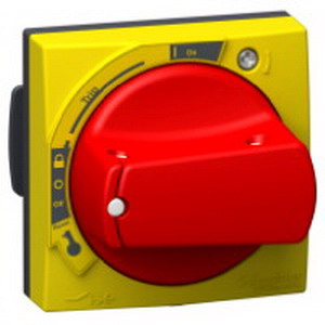 Schneider Electric / Square D GVAPR54 Rotary Handle; Red Handle/Yellow Front Plate
