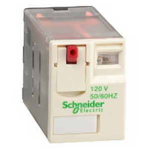 Schneider Electric / Square D RXM4GB1F7 Zelio® Miniature Plug-In Relay; 1/2/3 Amp, 120 Volt AC, Plug-In Mount