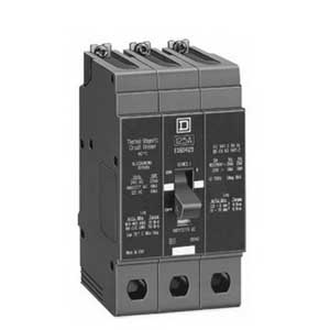 Schneider Electric / Square D EDB34100SA VISI-TRIP Miniature Circuit Breaker With Shunt Trip 100 Amp, 480Y/277 Volt AC, 3-Pole, Bolt-On Mount,""
