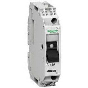 Schneider Electric / Square D GB2CD06 Circuit Breaker; 1 Amp, 250 Volt AC, 48 Volt DC, 1-Pole+Neutral, Plate/Rail/Horizontal/Vertical Mount