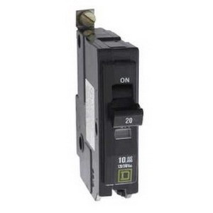Schneider Electric / Square D QOB2451021 Miniature Circuit Breaker With Shunt Trip 45 Amp  120/240 Volt AC  2-Pole  Bolt-On Mount