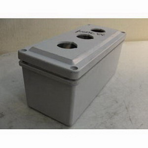 Stahlin CF3PB Pushbutton Series Enclosure 3.190 Inch Width x 3.630 Inch Depth x 8.260 Inch Height  Fiberglass Reinforced Thermoset Polyester  Glacier Gray  Feet Mount  Recessed Screw Cover
