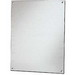 Stahlin BP1412CS Flat Back Panel; 1010-HRS Carbon Steel, Metallic Painted White Enamel, (4) 0.250 Inch Dia Hole Mount