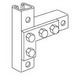 Steel City B-936-HD 4-Hole Flat Plate Angle Connector; Steel, Hot-Dipped Galvanized