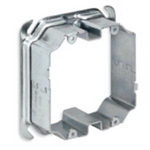 Steel City 52CADJ2 4 Inch 2-Gang Adjustable Mud Ring; 1/2 To 1-1/2 Inch Depth, Steel