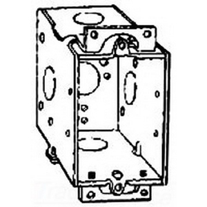 Thepitt TP676 1-Gang Switch Box Without Clamp; 1 Outlets, Ear Screw Mount, Welded, Steel, Natural, 14 Cubic-Inch