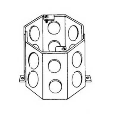 """""""""""Thepitt TP644 Octagon Outlet Box 4 Inch Width x 4 Inch Depth x 4 Inch Height, Steel, 47 Cubic-Inch,"""""""""""" 655597"""