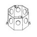 Thepitt TP620 Octagon Outlet Box; 4 Inch Width x 2 Inch Depth x 4 Inch Height, Steel, 23 Cubic-Inch