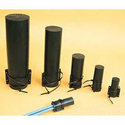 Thomas & Betts MSC14 Shrink-Kon® Motor Stub Splice Insulator; 14-10 AWG, Modified Neoprene Elastomer Body, Nylon Strap, Black
