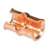 Thomas & Betts 54720 Color-Keyed® C-Tap Compression Connector; 2/0-1 AWG Main, 12-8 AWG Branch, Wrought Copper, Brown Color Code