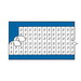 Thomas & Betts WC1S E-Z-Code® WC Series Standard Style Wire Marker Card; Vinyl Cloth, Black On White