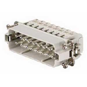 Thomas & Betts MS216A Pos-E-Kon™ A Series Small Compact Size Male Pin Insert; 16 Amp, 600 Volt AC, 16 + Ground Contact
