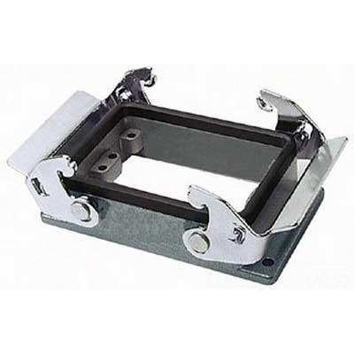 Thomas & Betts PB132A Pos-E-Kon™ Standard Mount Double Lever Locking Double Post Panel Base; Aluminum