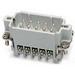 Thomas & Betts MS232A Pos-E-Kon™ A Series Small Compact Size Male Pin Insert; 16 Amp, 600 Volt AC, 32 + Ground Contact
