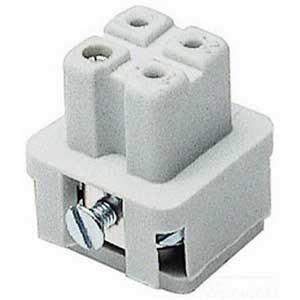 Thomas & Betts FS103A Pos-E-Kon™ A Series Small Compact Size Female Sleeve Insert; 16 Amp, 600 Volt AC, 3 + Ground Contact
