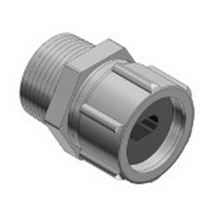 Thomas & Betts 2238 Underground Liquidtight Service Entrance Cable Connector; 3/4 Inch, 0.235 x 0.465 Inch, Die-Cast Zinc