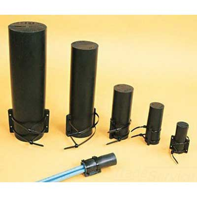 Thomas & Betts MSC2 Shrink-Kon® Motor Stub Splice Insulator; 12-2 AWG, Modified Neoprene Elastomer Body, Nylon Strap, Black