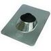 Nichols F2124 Roof Flashing; 2-1/2 - 4 Inch, ASTM A653 Neoprene Collar, 28 Gauge Galvanized Base