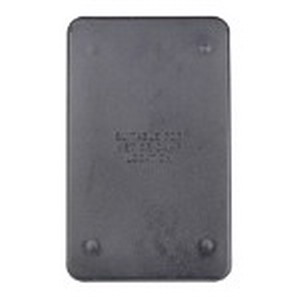 Union FSC-51 1-Gang Flat Device Blank Box Cover With Gasket; Box Mount, Phenolic, Black
