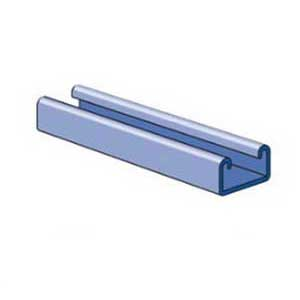 Unistrut P3300-10PG Solid Channel; 12 Gauge, 10 ft x 1-5/8 Inch x 7/8 Inch, Steel, Pre-Galvanized