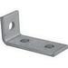 Unistrut P1346EG 3-Hole 90 Degree Corner Angular Fitting; Steel, Electrogalvanized