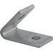 Unistrut P1186EG 2-Hole 45 Degree Closed Angular Fitting; Steel, Electrogalvanized
