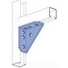 Unistrut P2484HG Corner Gusset 7-Hole 90 Degree Gusseted Angular Fitting; Steel, Hot-Dipped Galvanized