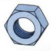 Unistrut HHXN037EG Hex Nut; 3/8 Inch, Case Hardened Mild Steel, Electrogalvanized