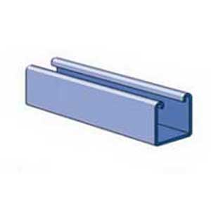 Unistrut P1000-10PG Solid Channel; 12 Gauge, 10 ft x 1-5/8 Inch x 1-5/8 Inch, Steel, Pre-Galvanized